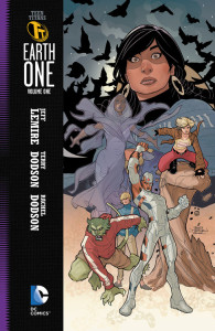 Each Earth One book features a thick, black border to the left, clearly denoting the series.